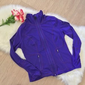 ZELLA Zip Up Athletic Yoga Jacket w/ Mesh Detail